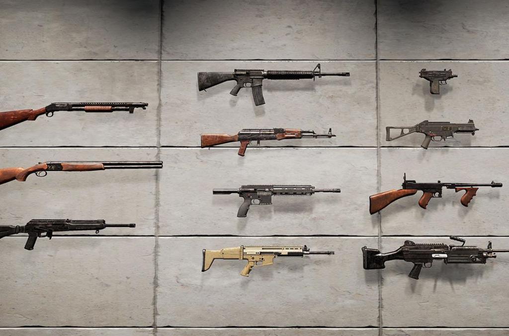 Таблицы характеристик оружия